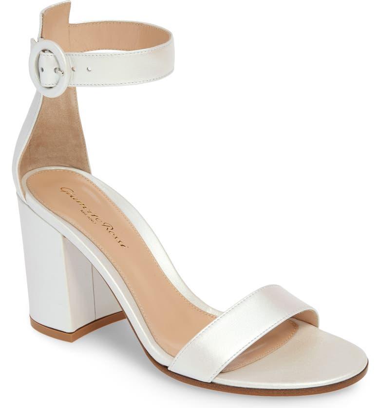 GIANVITO ROSSI Block Heel Sandal, Main, color, AURORA WHITE