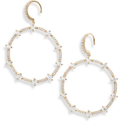 Nadri Issa Cubic Zirconia Frontal Hoop Earrings
