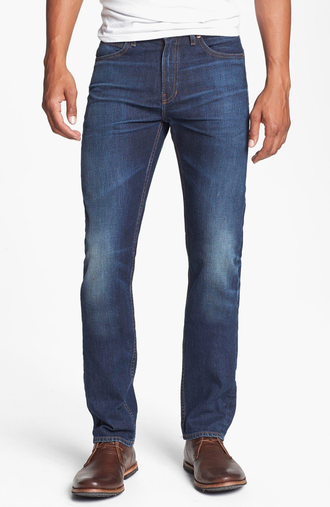 'Lean' Straight Leg Jeans, Main, color, 401