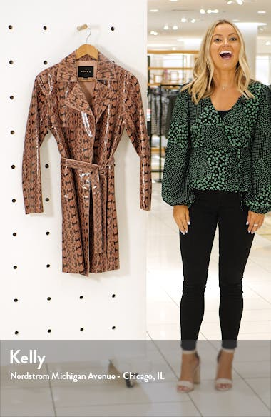 Sneak Attack Snakeskin Trench Coat, sales video thumbnail