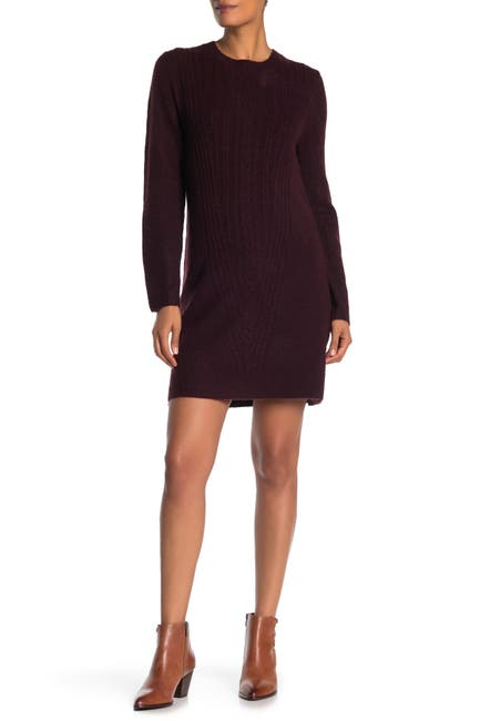 Image of Max Studio Cable Knit Bow Back Sweater Dress