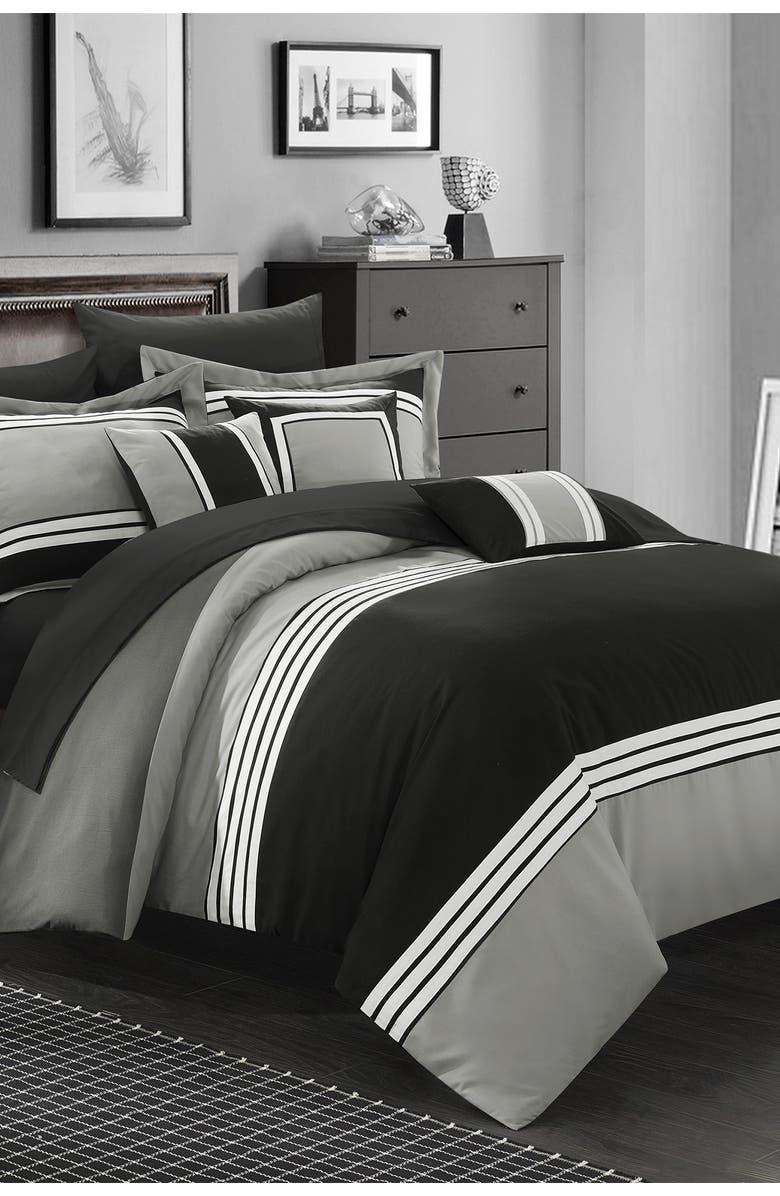 CHIC Karsa Hotel Collection Comforter Set - Black, Main, color, BLACK