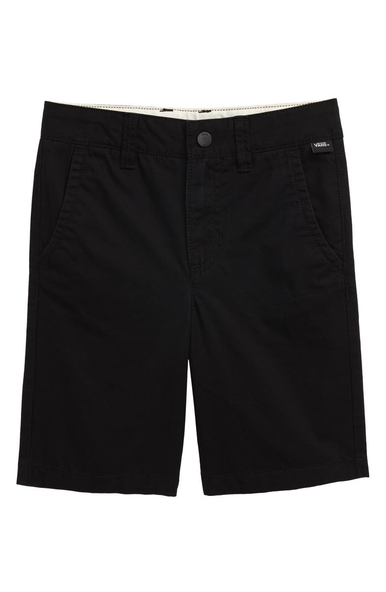 VANS Authentic Shorts, Main, color, BLACK