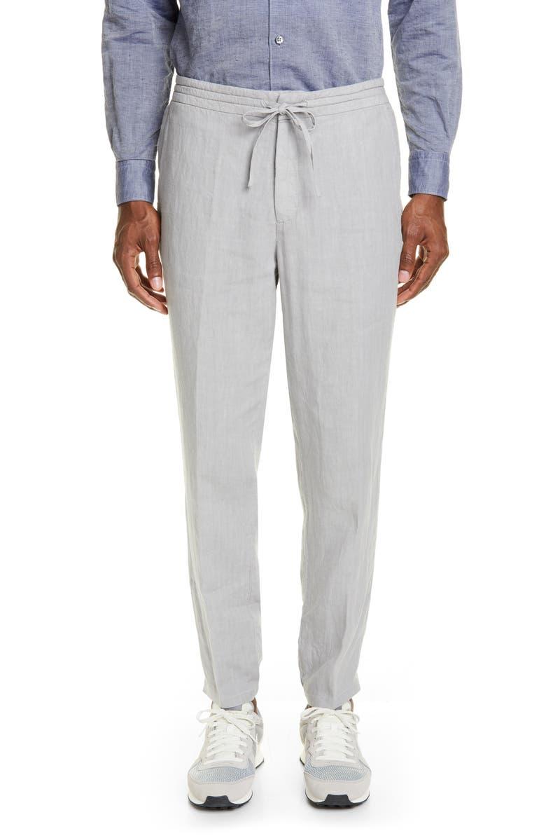 Z ZEGNA Slim Fit Linen Jogger Pants, Main, color, 023