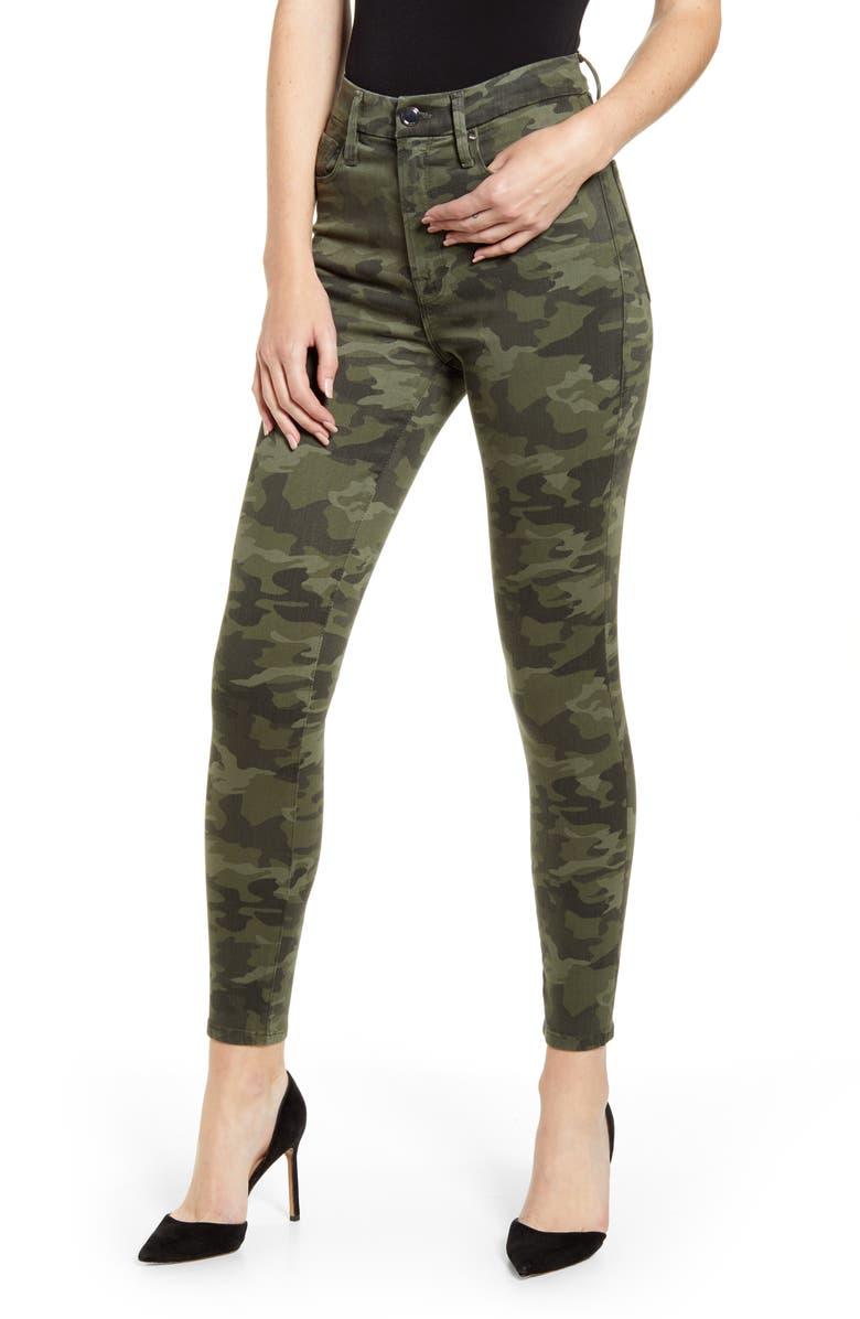 GOOD AMERICAN Good Waist Skinny Jeans, Main, color, 300