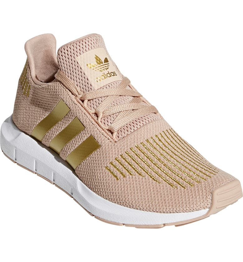 ADIDAS Swift Run Sneaker, Main, color, ASH PEARL/ GOLD/ WHITE