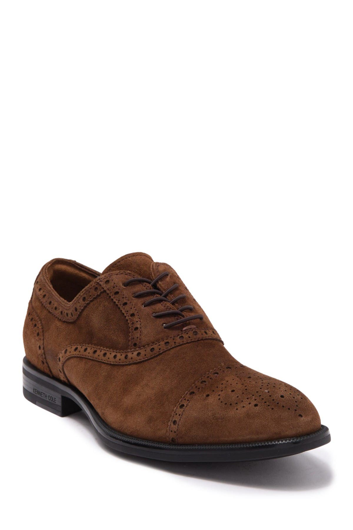 Image of Kenneth Cole New York Perforated Trim Suede Cap Toe Oxford