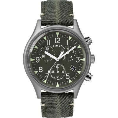 Timex Mk1 Chronograph Fabric Strap Watch, 42Mm