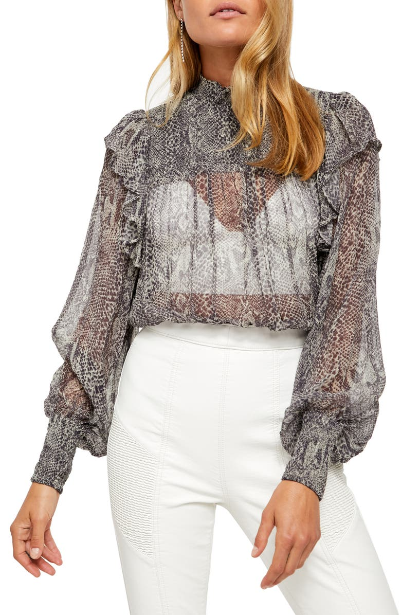 FREE PEOPLE Roma Blouse, Main, color, SNAKE COMBO