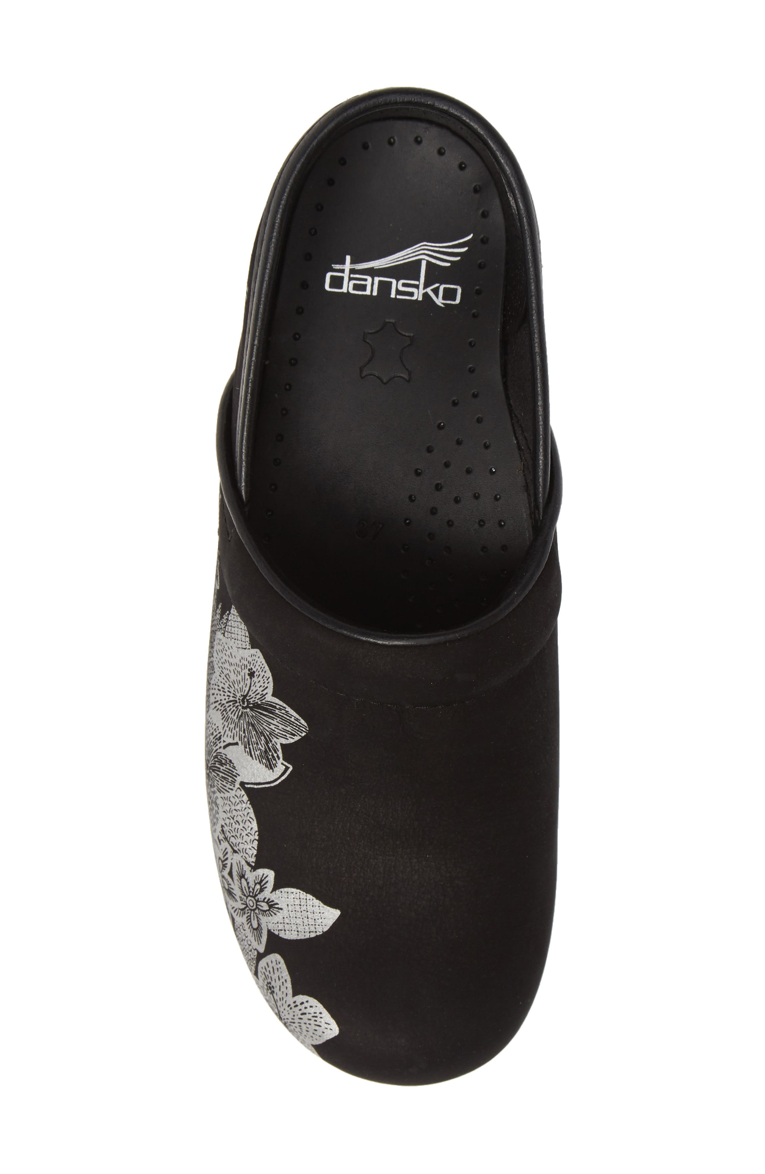 ,                             'Professional' Clog,                             Alternate thumbnail 5, color,                             METALLIC FLORAL NUBUCK LEATHER