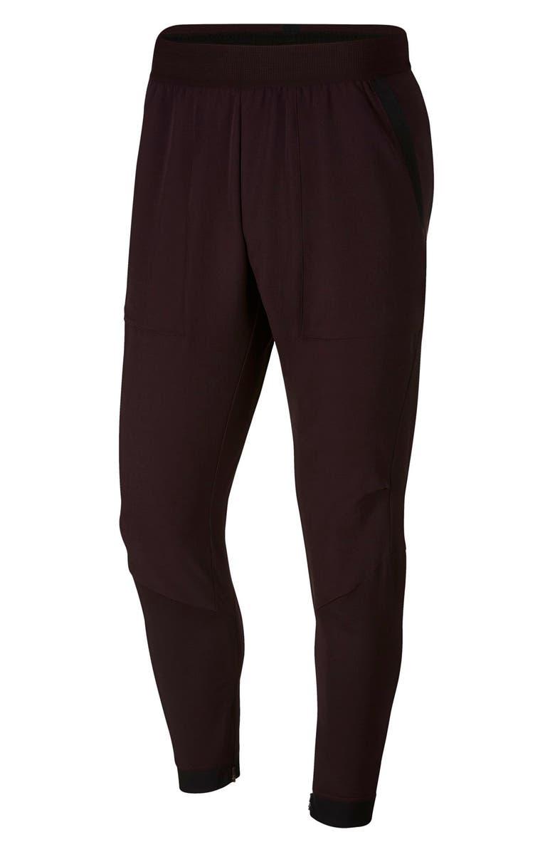 NIKE Flex Track Pants, Main, color, BURGUNDY ASH/ BLACK