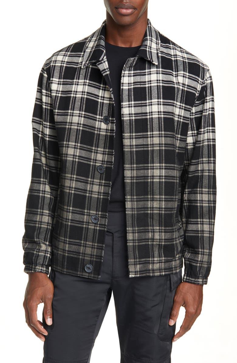 1017 ALYX 9SM Plaid Button-Up Flannel Shirt Jacket, Main, color, 001