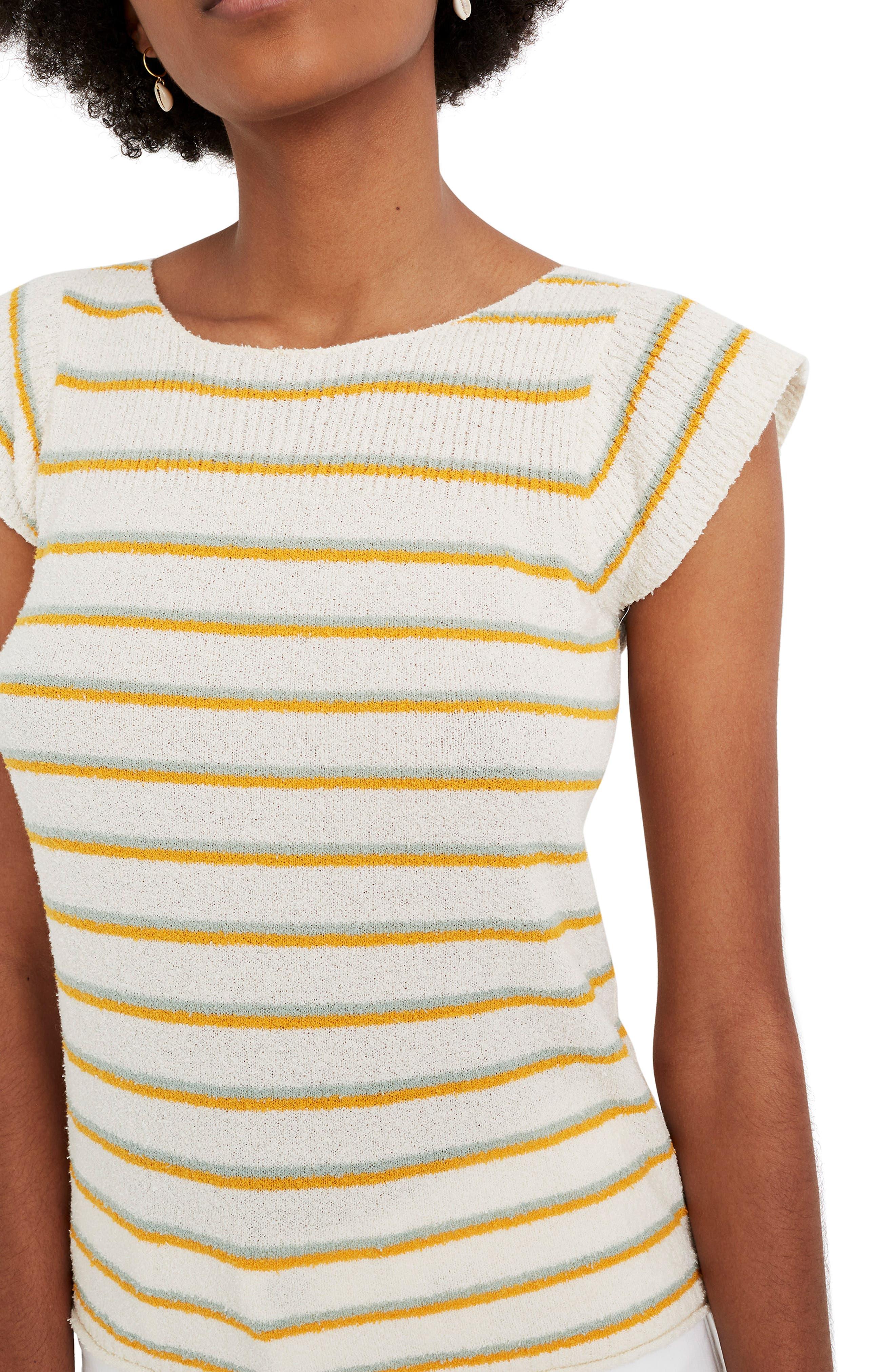 Madewell Marin Smallwood Stripe Sweater Tee, Ivory