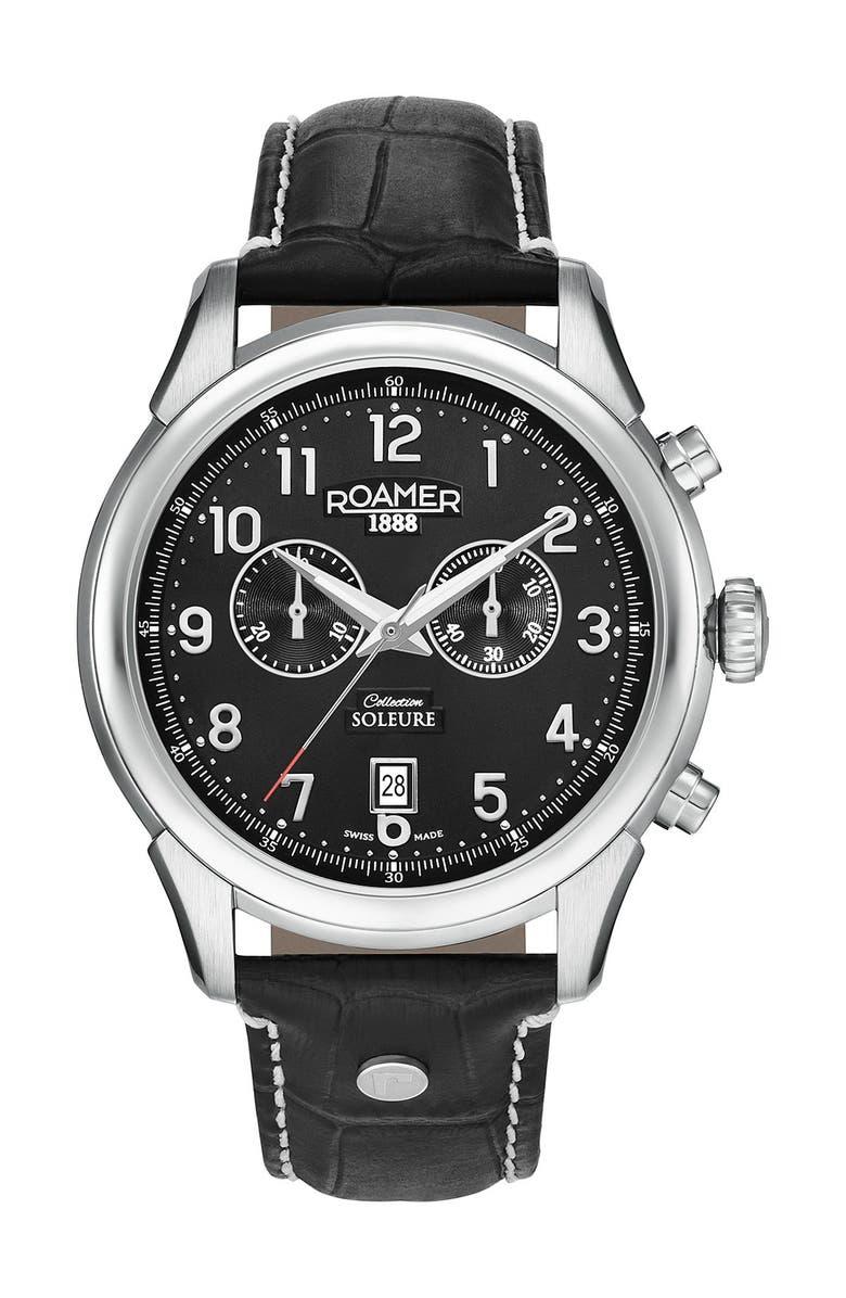 ROAMER Men's Soleure Chronograph Date Watch, Main, color, NO COLOR