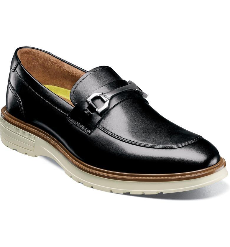 FLORSHEIM Astor Bit Loafer, Main, color, BLACK/ WHITE