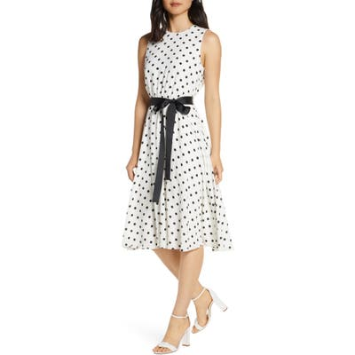 Harper Rose Polka Dot Fit & Flare Dress, 8 (similar to 1) - Ivory