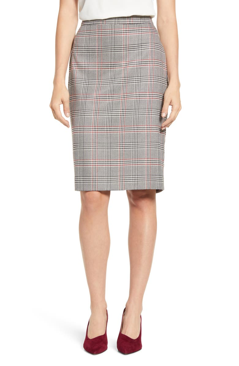1.STATE Glen Plaid Pencil Skirt, Main, color, 006