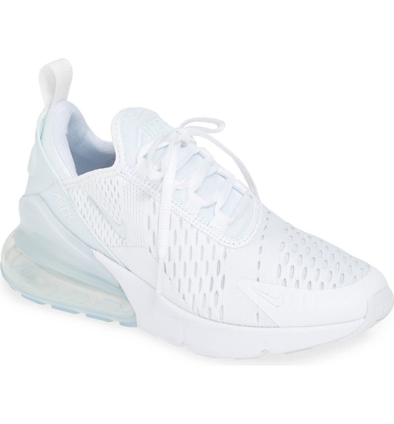 NIKE Air Max 270 Sneaker, Main, color, WHITE/ WHITE-SILVER