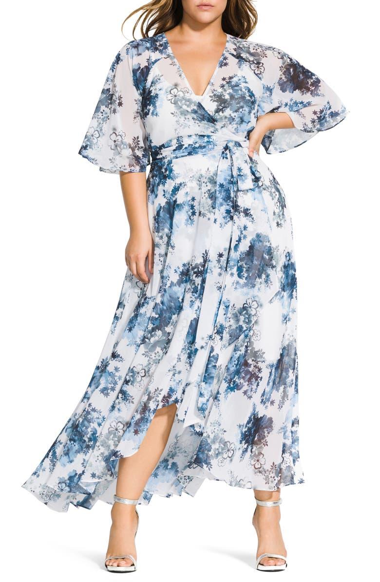 Kenji Floral Wrap Maxi Dress