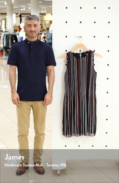 Pleated Sleeveless Shift Dress, sales video thumbnail