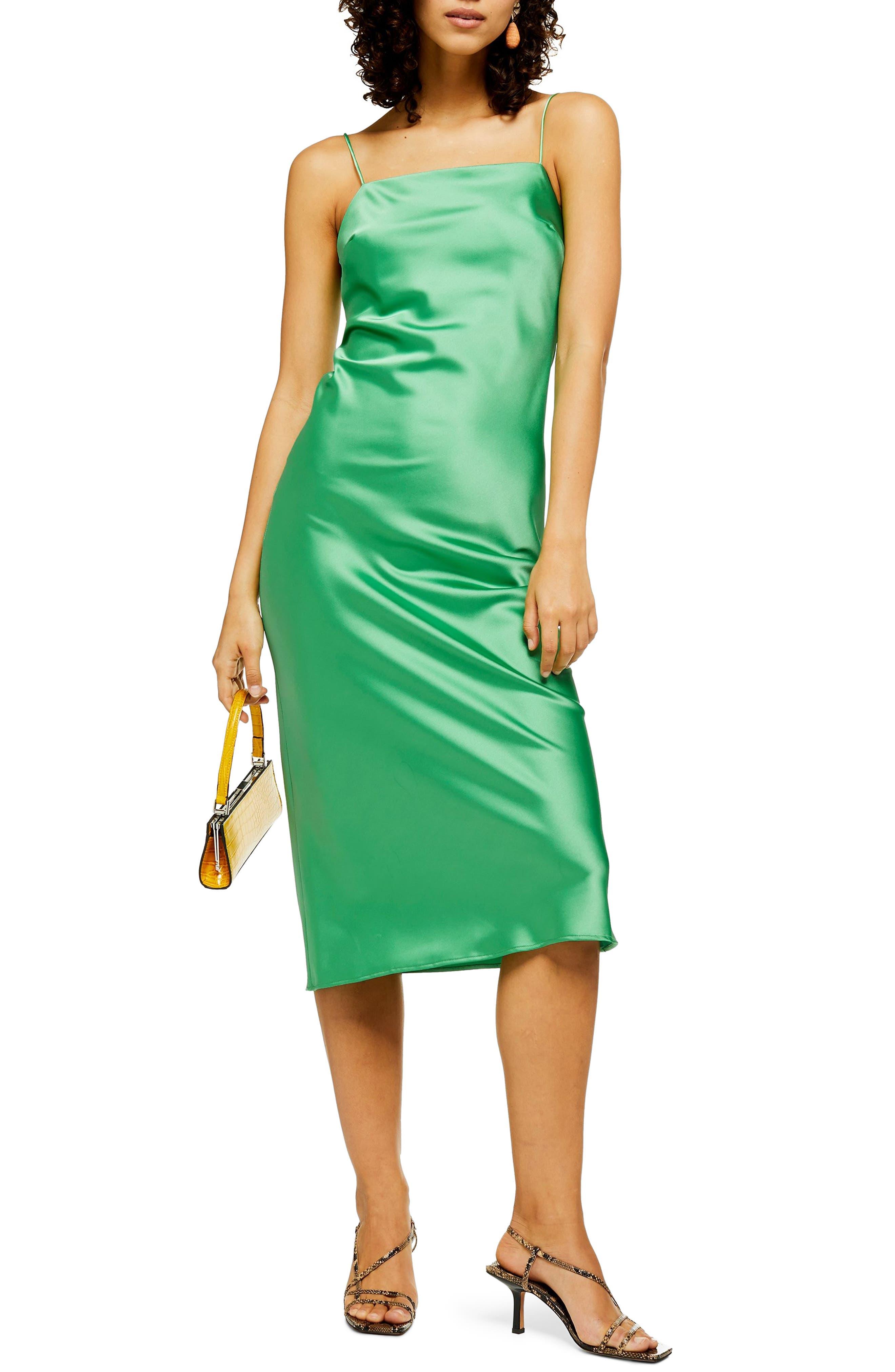 Topshop Square Neck Slipdress, US (fits like 0) - Green
