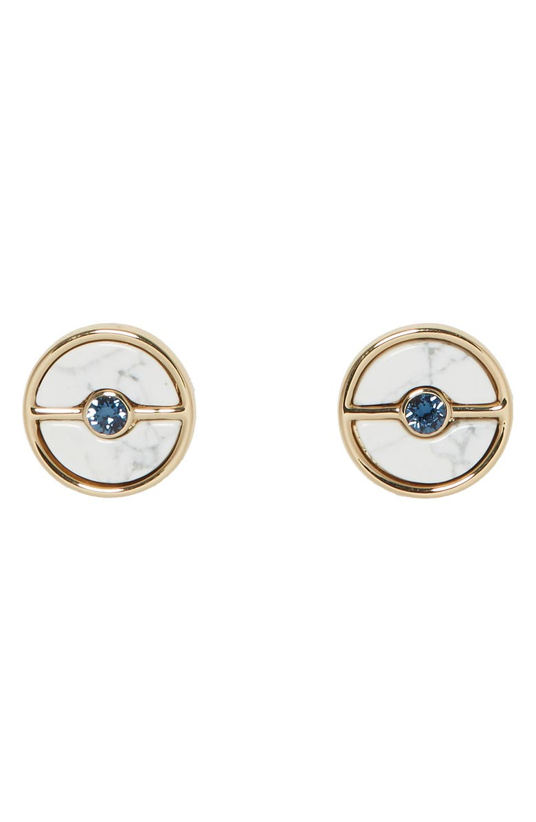 VINCE CAMUTO Stone Button Stud Earrings, Main, color, 100