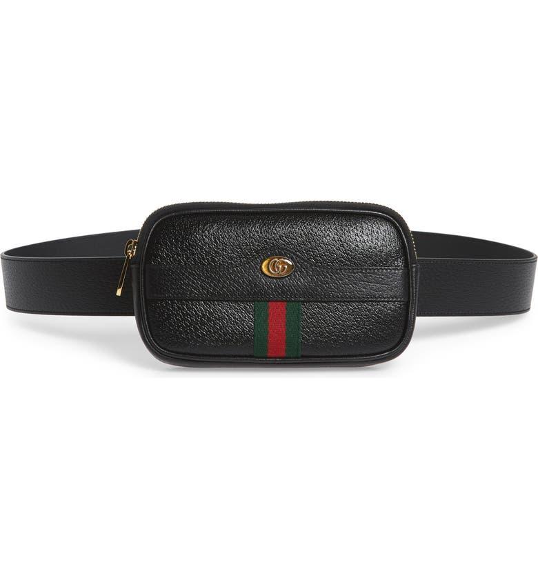 GUCCI Ophidia iPhone Belt Bag, Main, color, NERO/ VERT RED VERT