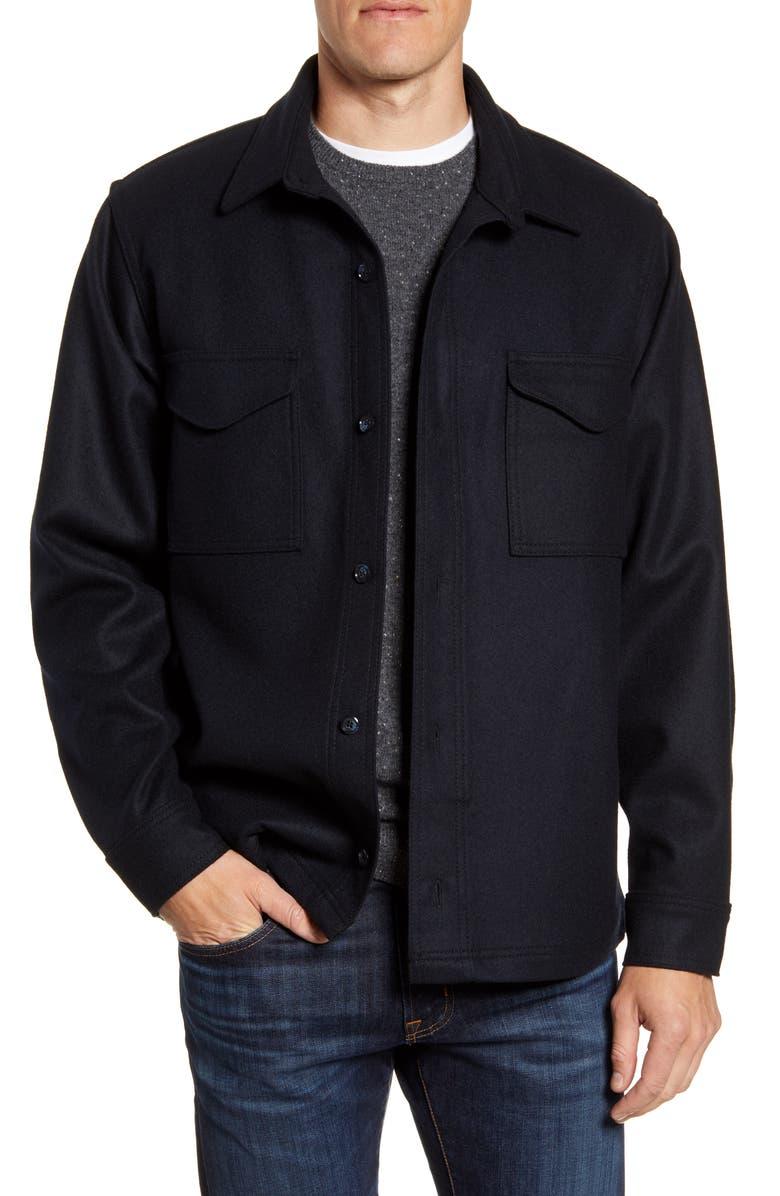 FILSON Regular Fit Wool Shirt Jacket, Main, color, 410