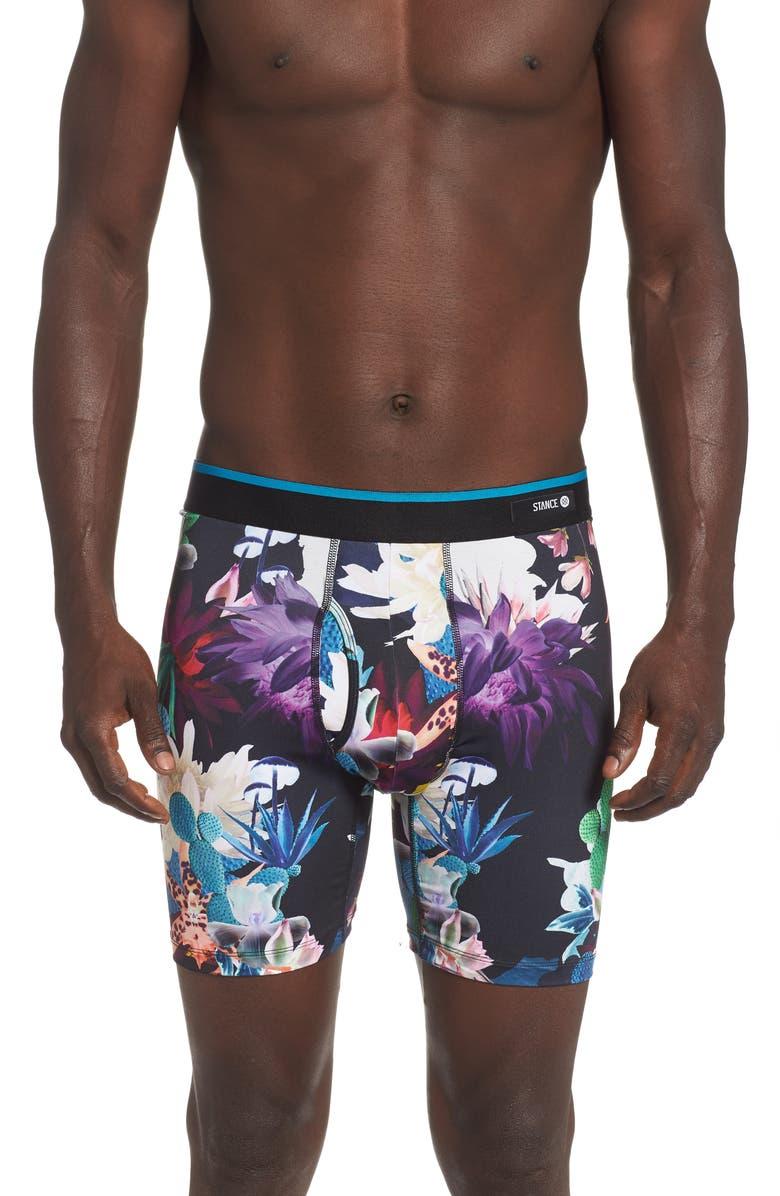 STANCE Cactus Rave Boxer Briefs, Main, color, BLACK