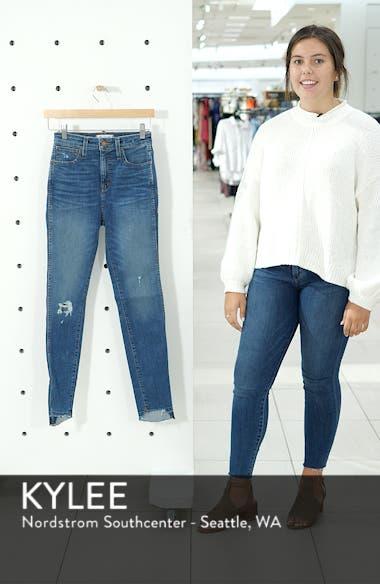Drop Step Hem Curvy High Waist Skinny Jeans, sales video thumbnail
