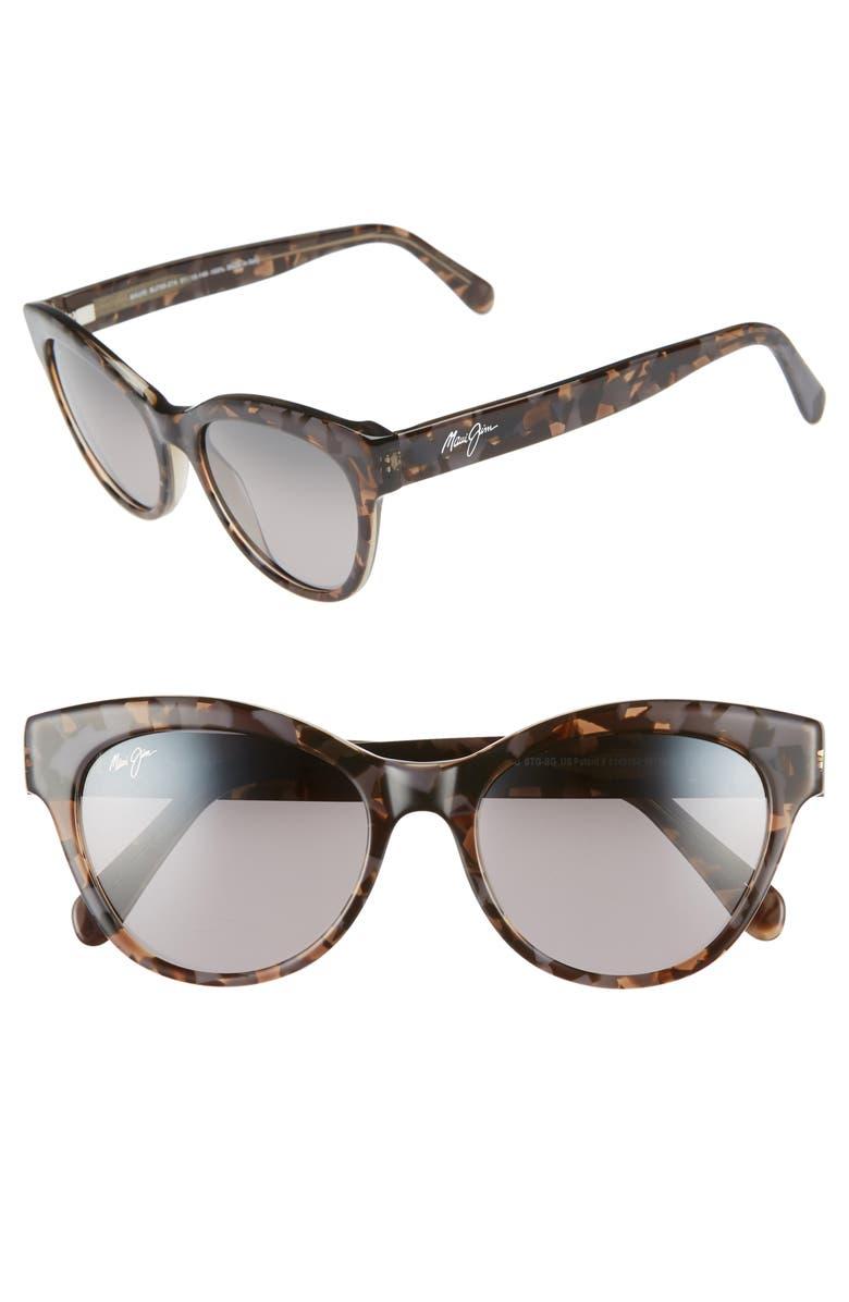 MAUI JIM Ku'uipo 51mm PolarizedPlus2<sup>®</sup> Cat Eye Sunglasses, Main, color, DOVE GREY