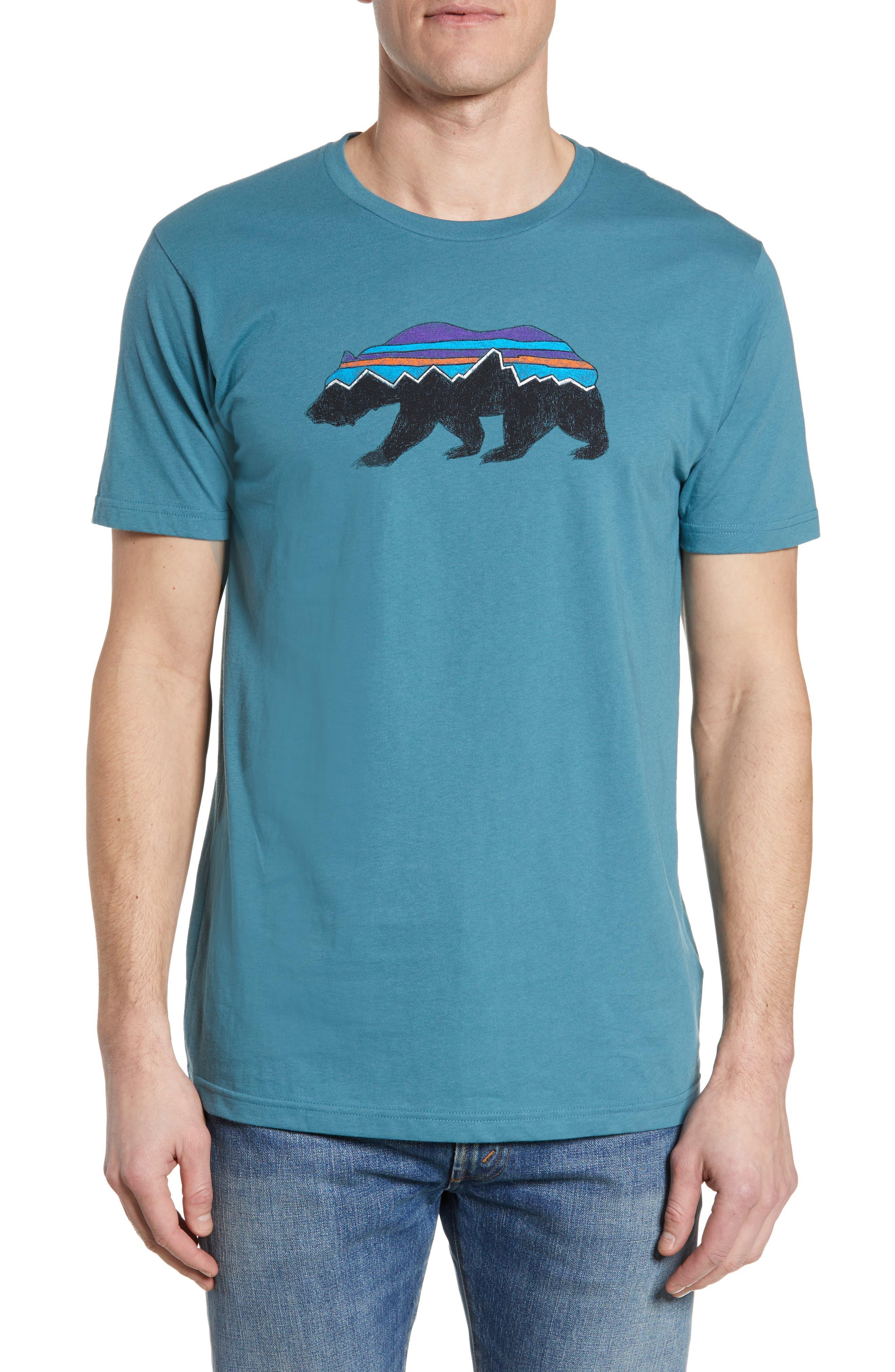 Fitz Roy Bear Crewneck T-Shirt, Main, color, TASMANIAN TEAL