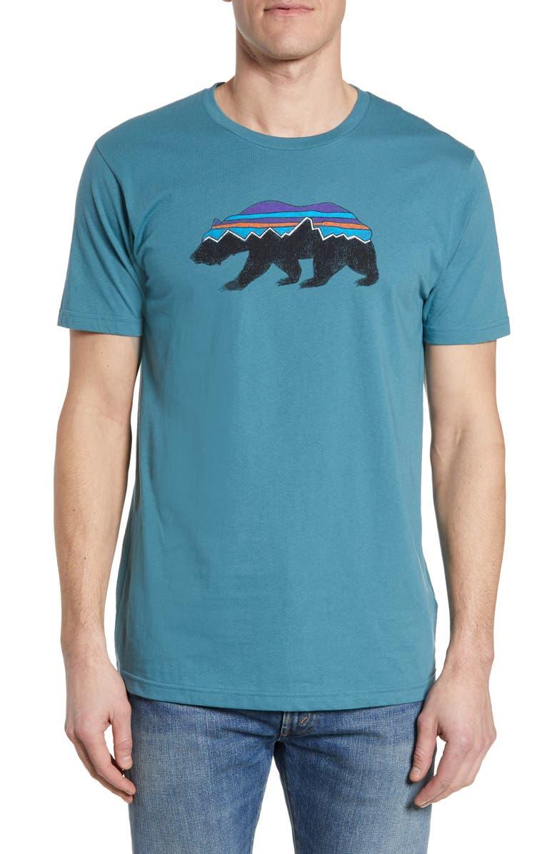 5b54faf7 Fitz Roy Bear Organic Cotton Crewneck T-Shirt, Main, color, TASMANIAN TEAL