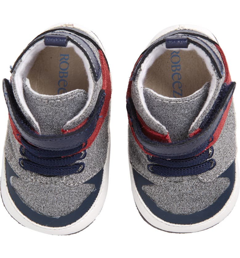 ROBEEZ<SUP>®</SUP> Zachary High Top Crib Sneaker, Main, color, 410