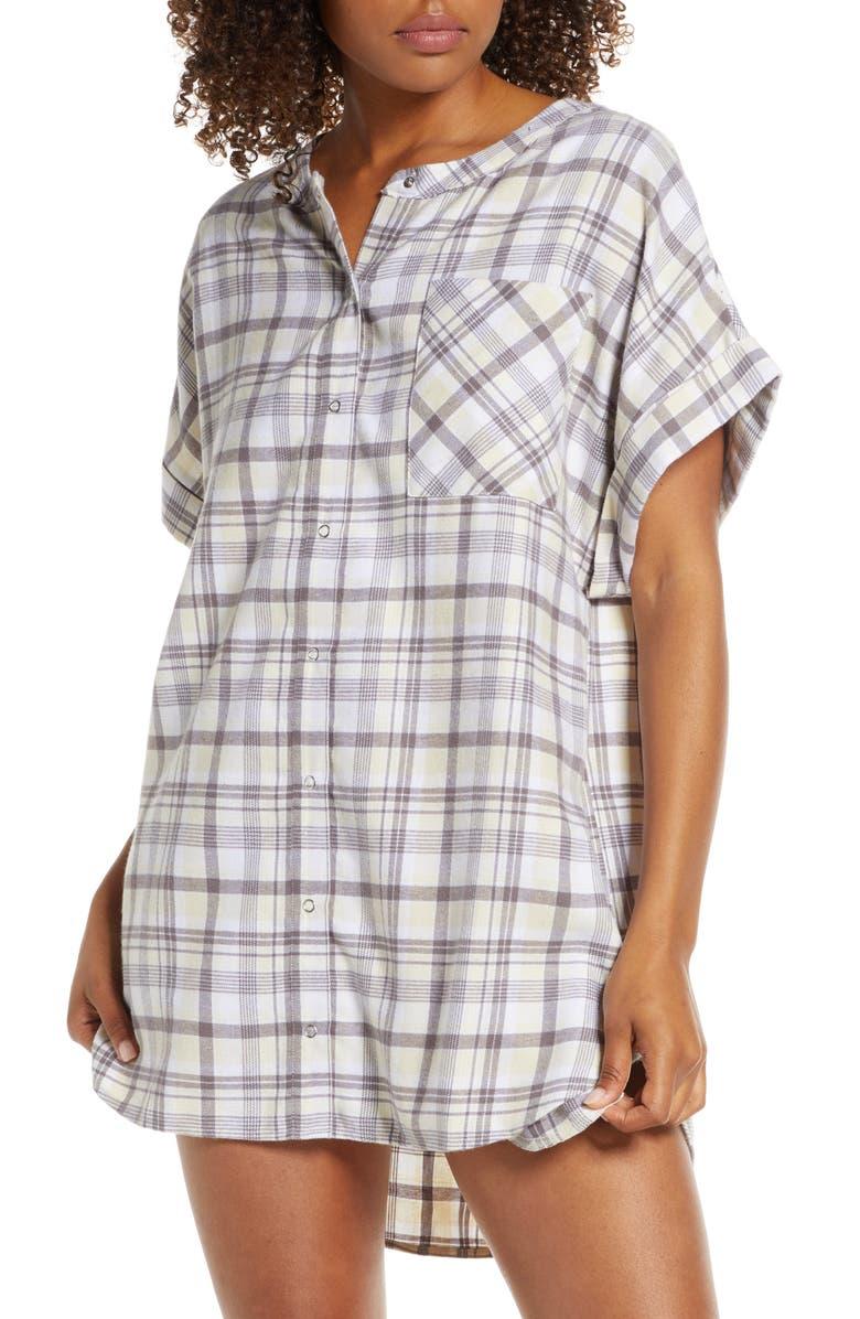 BP. Flannel Nightshirt, Main, color, 260