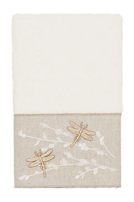Image of LINUM HOME Braelyn Embellished Hand Towel - Cream