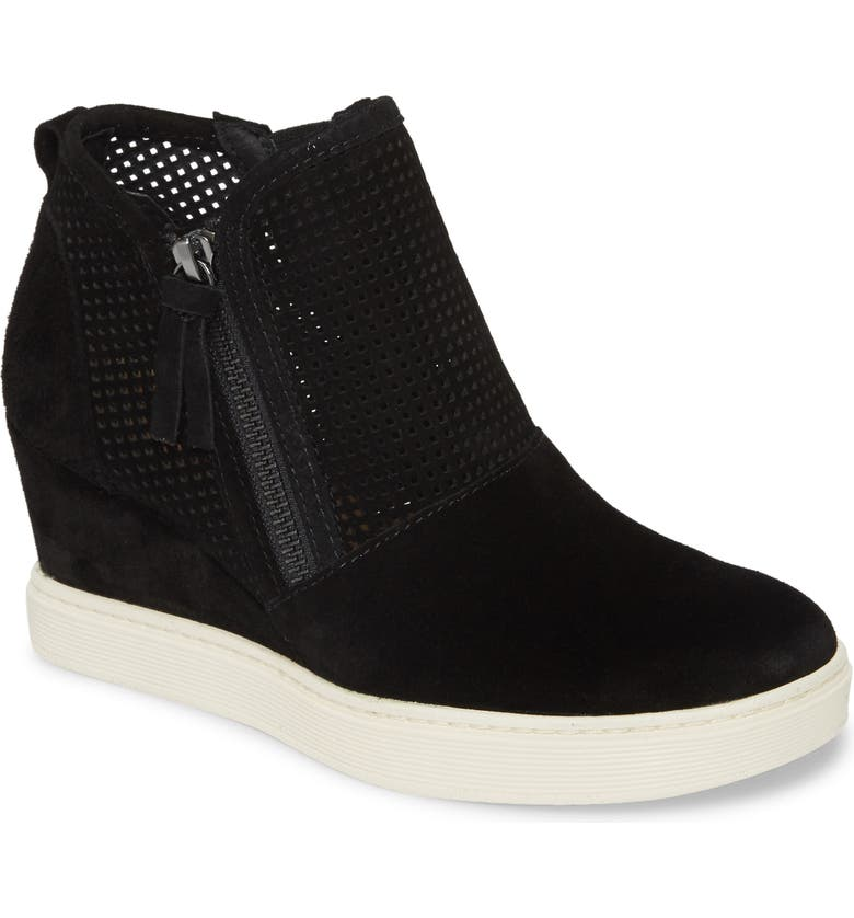 SÖFFT Bellview High Top Sneaker, Main, color, BLACK SUEDE