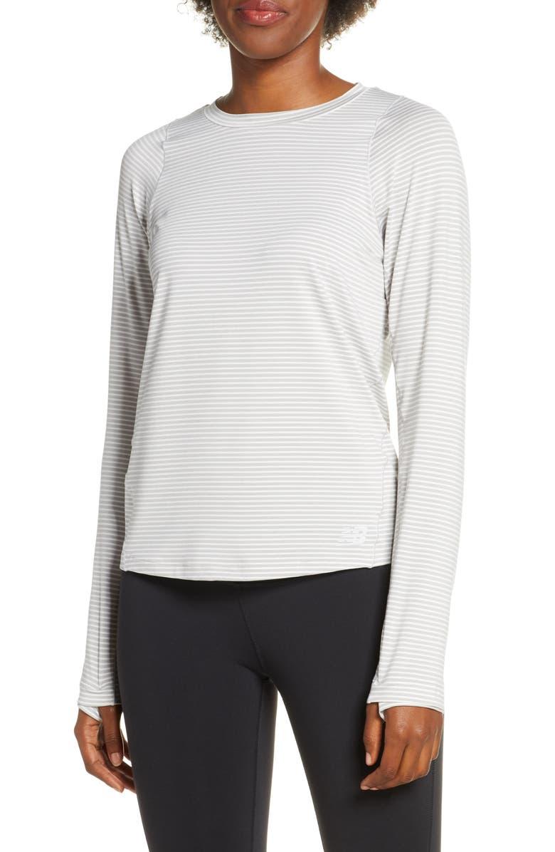 NEW BALANCE Seasonless Long Sleeve Top, Main, color, 026