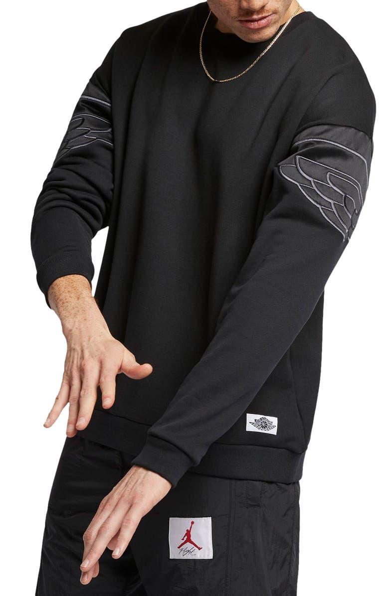 JORDAN Wings Classic Crewneck Sweatshirt, Main, color, 010
