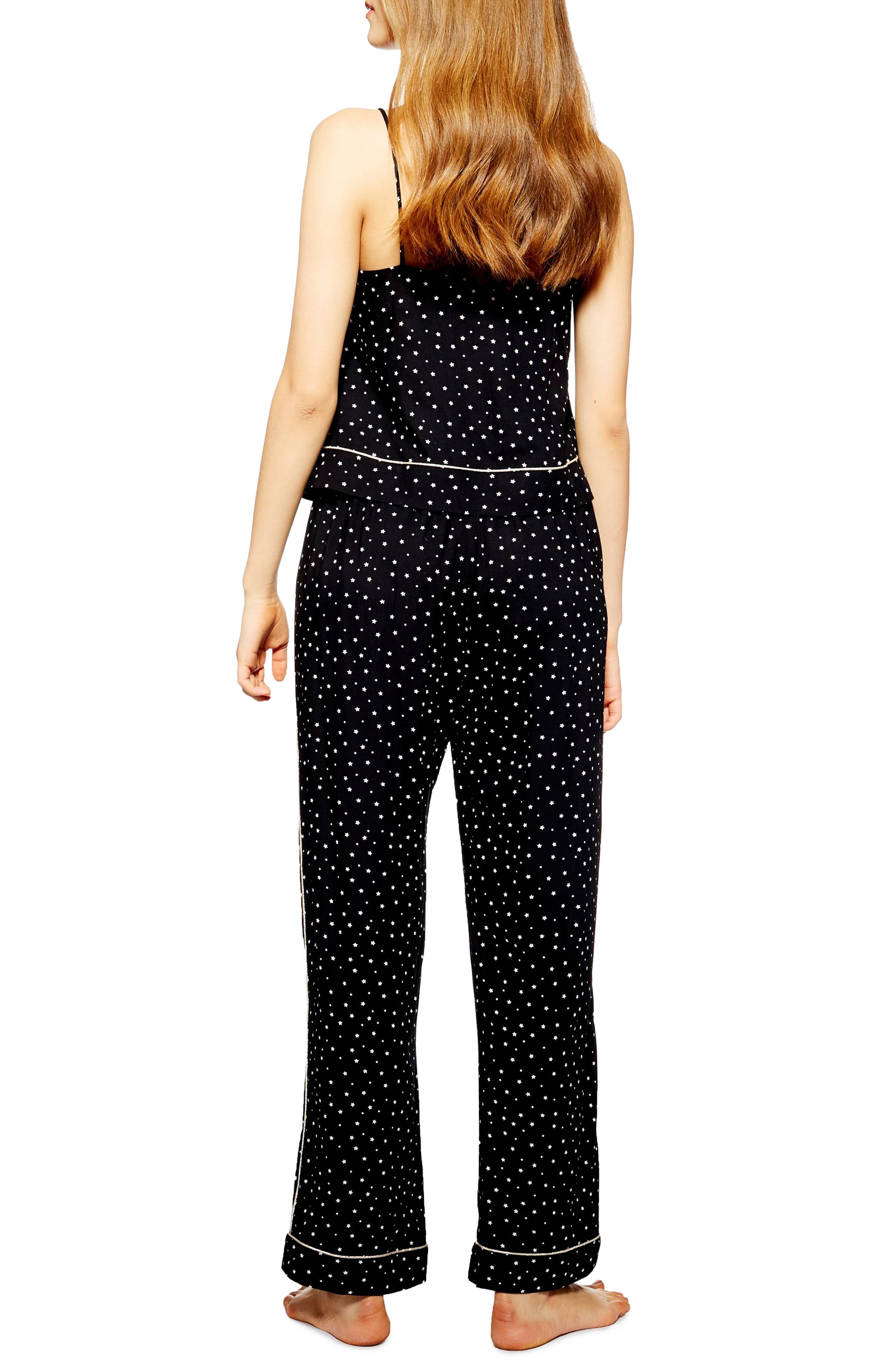 ,                             Star Print Pajama Pants,                             Alternate thumbnail 2, color,                             001
