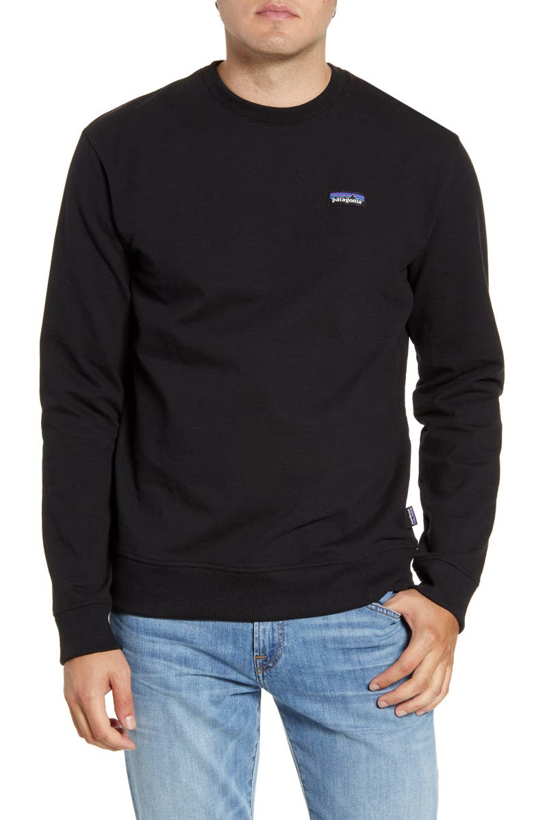 PATAGONIA P-6 Label Uprisal Crewneck Sweatshirt, Main, color, 001