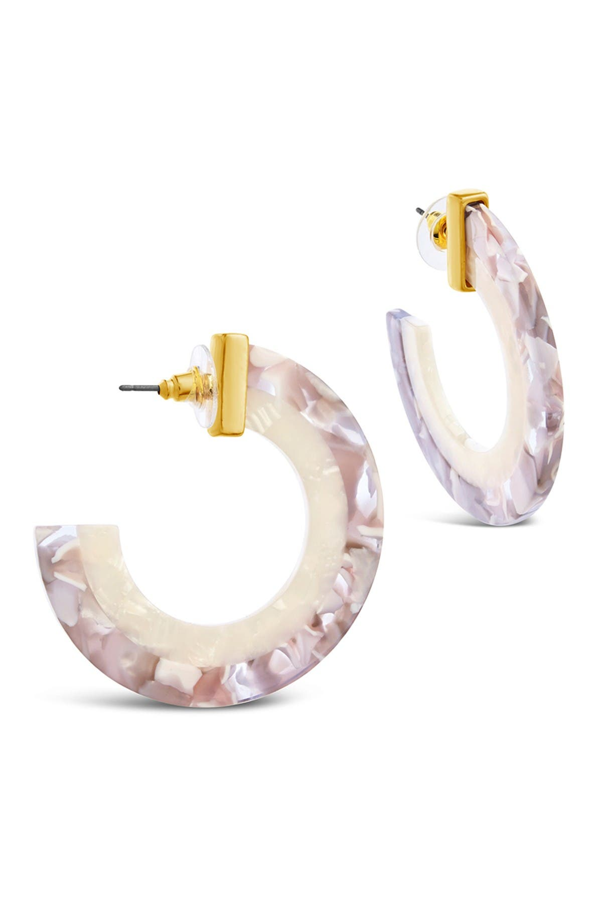 Sterling Forever 14K Yellow Gold Plated 44mm Two-Tone Hoop Earrings