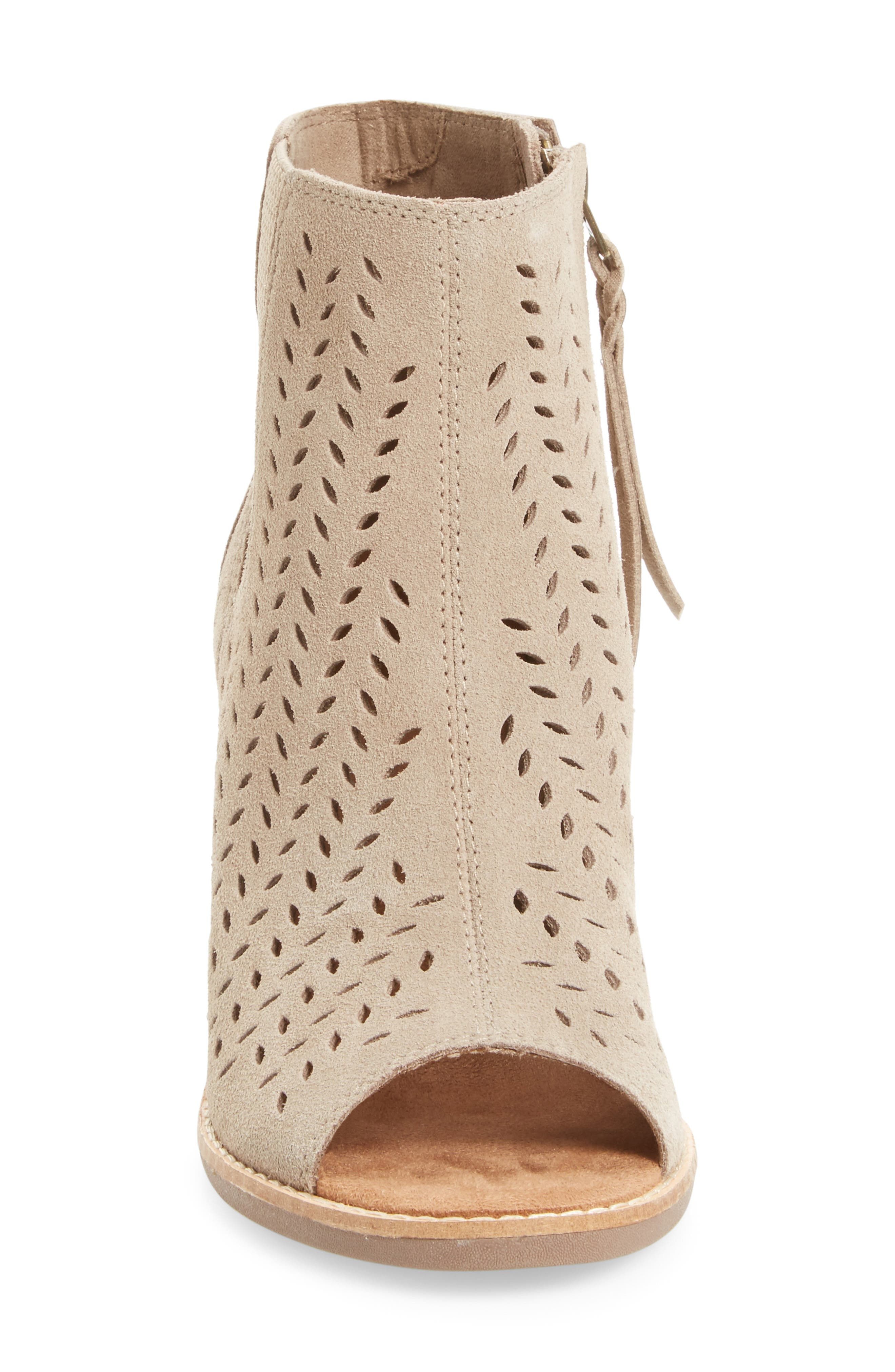 ,                             Majorca Perforated Suede Bootie,                             Alternate thumbnail 7, color,                             200