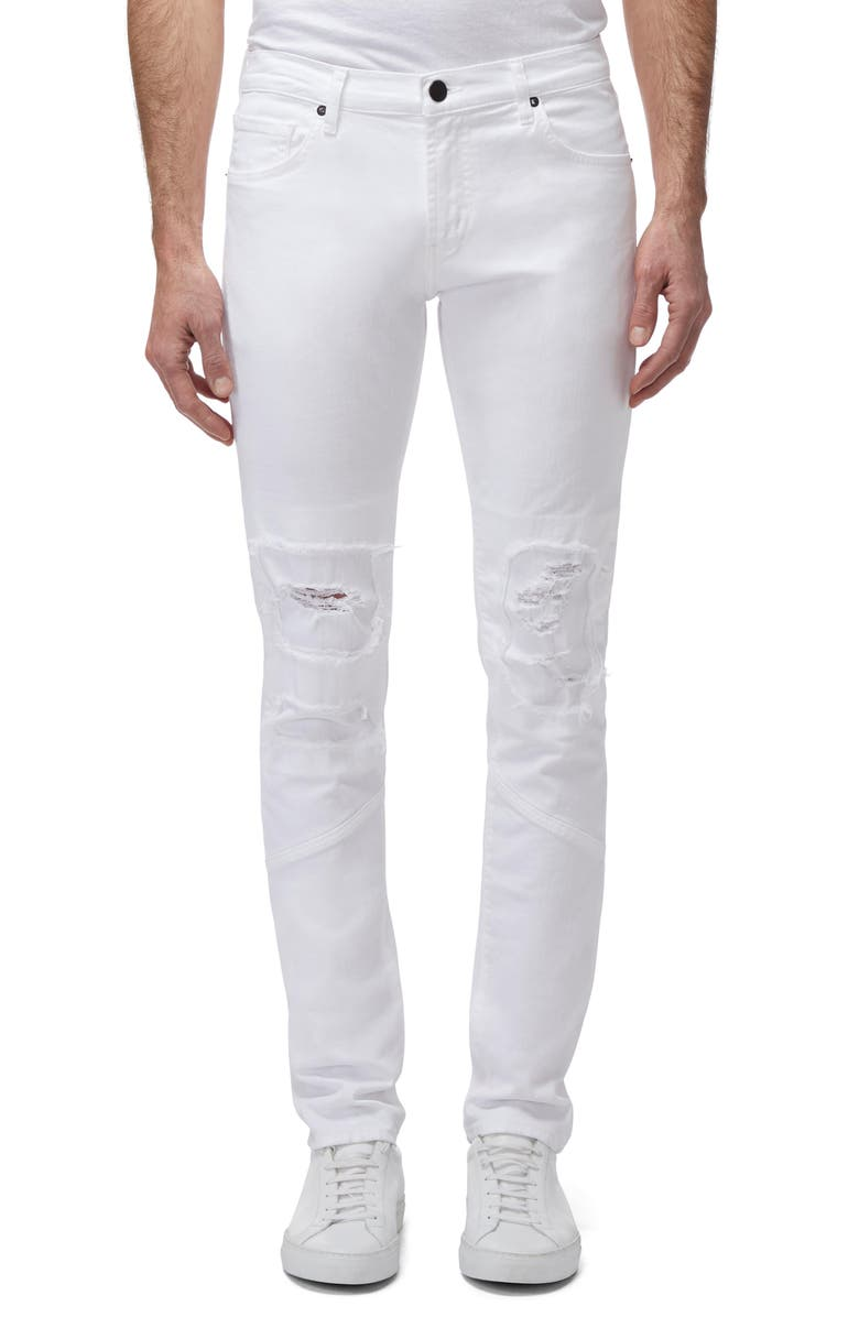 J BRAND Mick Ripped Skinny Fit Jeans, Main, color, WHITE RELIC