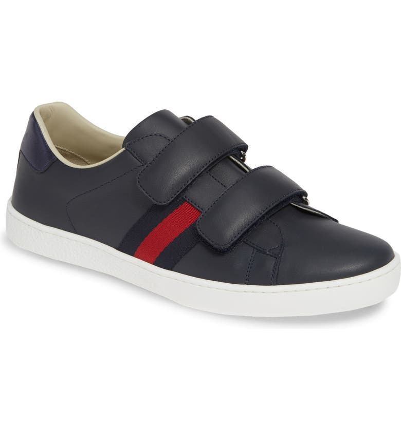 GUCCI New Ace Sneaker, Main, color, BLUE