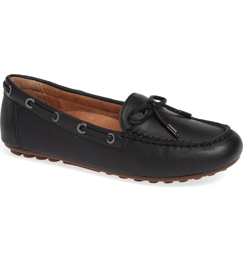 VIONIC Virginia Moccasin, Main, color, BLACK LEATHER