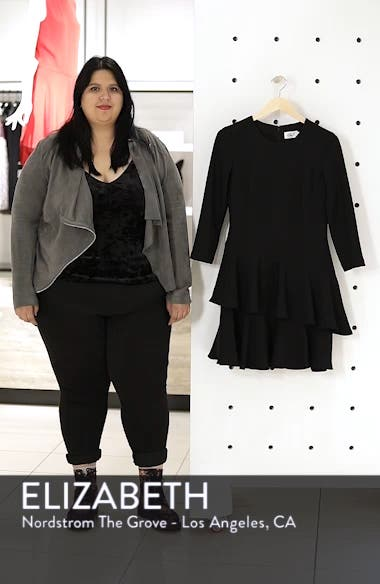 Tiered Ruffle Knit Dress, sales video thumbnail