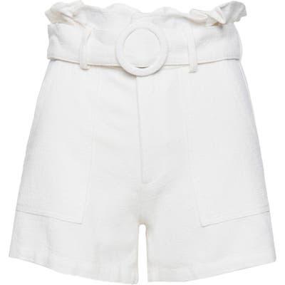 Blanknyc Paperbag Waist Shorts, White