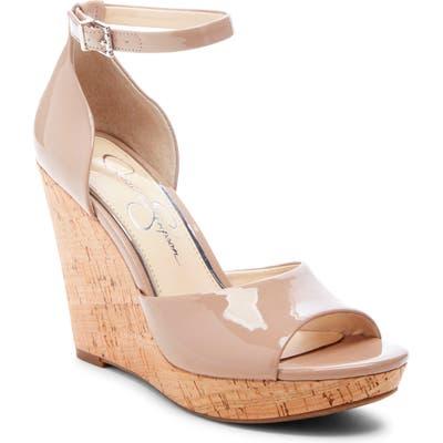 Jessica Simpson Jarella Platform Wedge Sandal, Beige