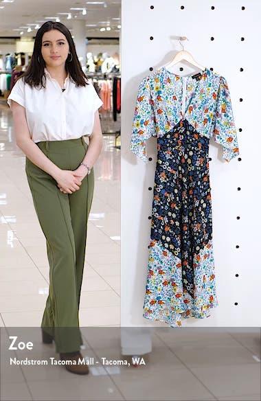 IDOL Mix Print Midi Dress, sales video thumbnail